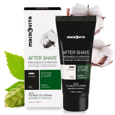 MACROVITA AFTER SHAVE GEL cotton & hop 100ml